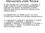 manuscripts under review