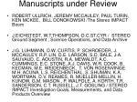 manuscripts under review1