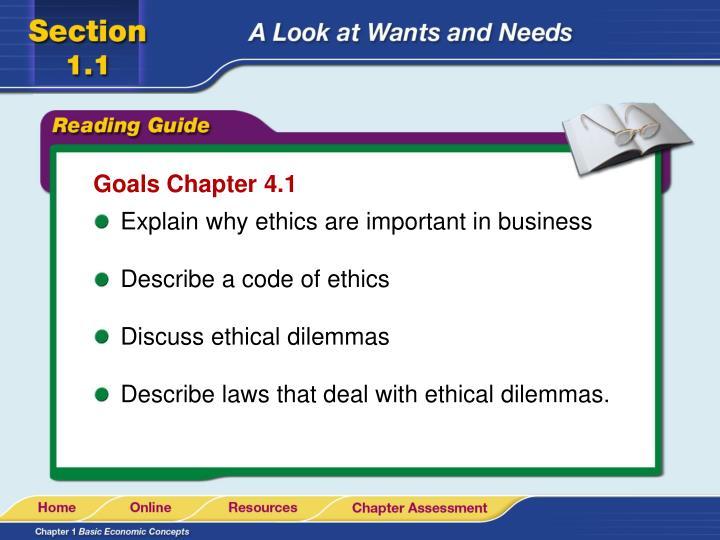 Goals Chapter 4.1