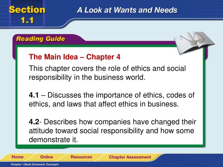 The Main Idea – Chapter 4