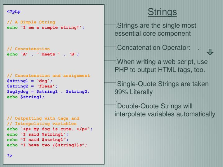 Strings are the single most essential core component