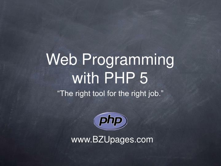 Web programming with php 5