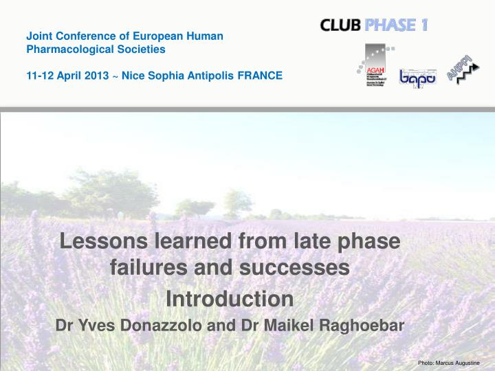 Joint Conference of European Human Pharmacological Societies