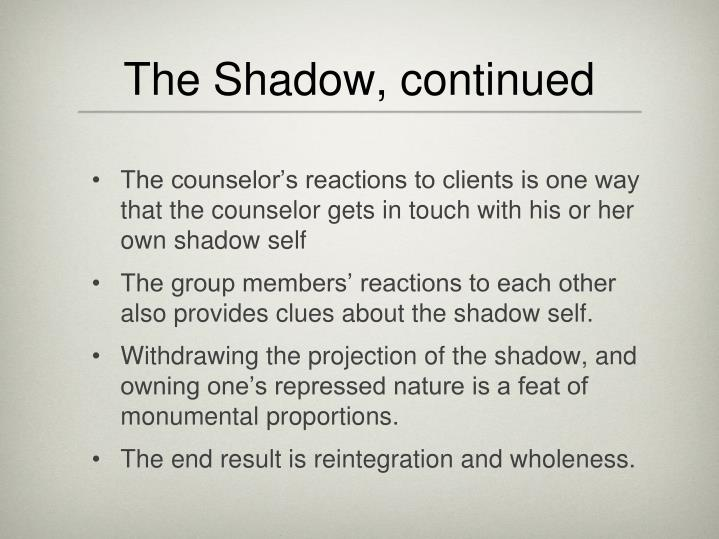 The Shadow, continued