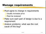 manage requirements