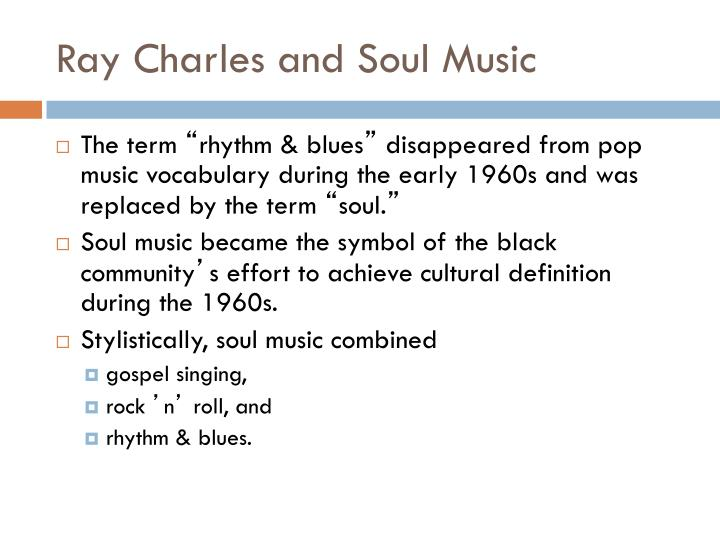 ray charles and soul music n.