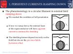 1 persistent currents ramping down