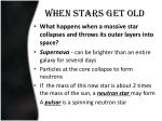 when stars get old