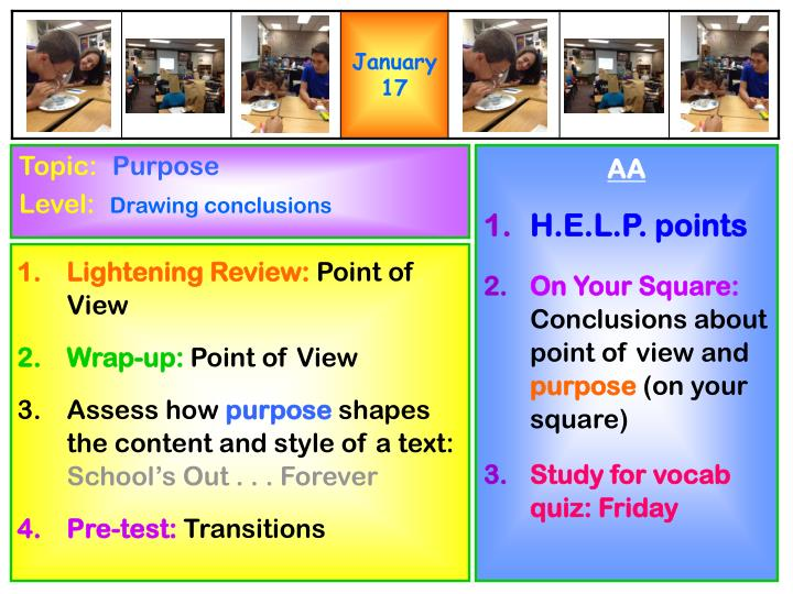 point of view of assessment Point of view, eighth 8th grade english language arts standards, grade level help, internet 4 classrooms internet resources  assessment site map |.