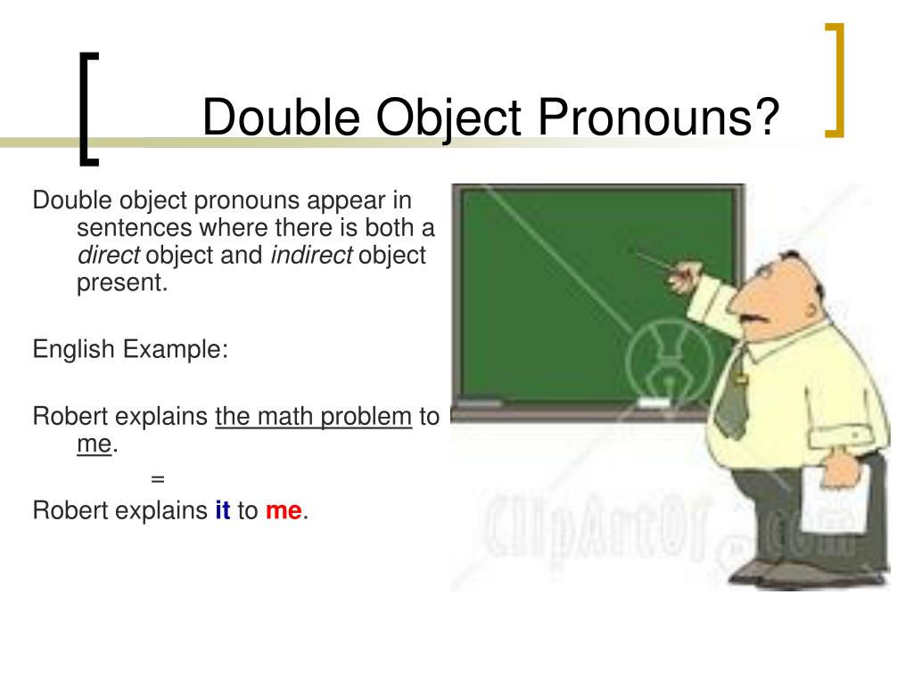 PPT - Double Object Pronouns PowerPoint Presentation, free ...