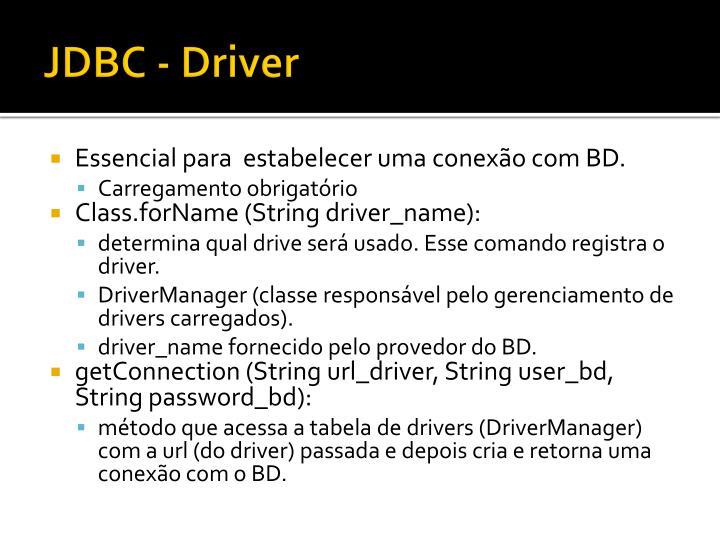 JDBC - Driver