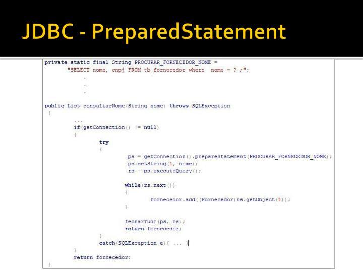 JDBC - PreparedStatement