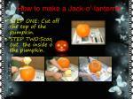 how to make a jack o lantern n