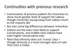 continuities with previous research