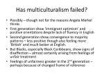 has multiculturalism failed