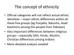 the concept of ethnicity