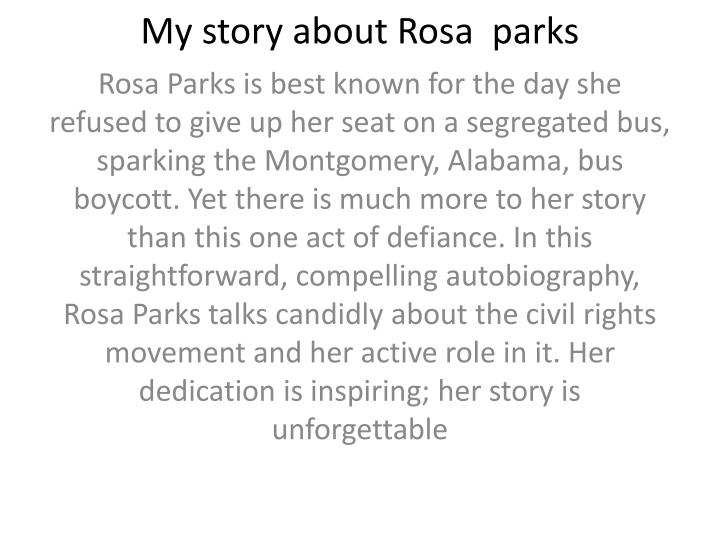 my story about rosa parks n.
