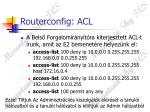 routerconfig acl