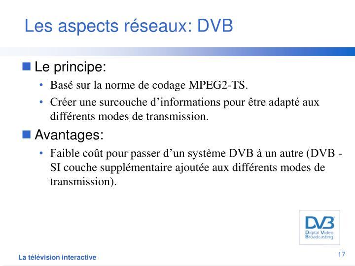 Les aspects réseaux: DVB