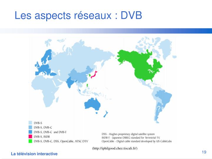 Les aspects réseaux : DVB