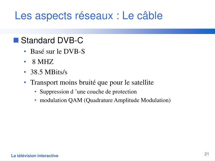 Les aspects réseaux : Le câble