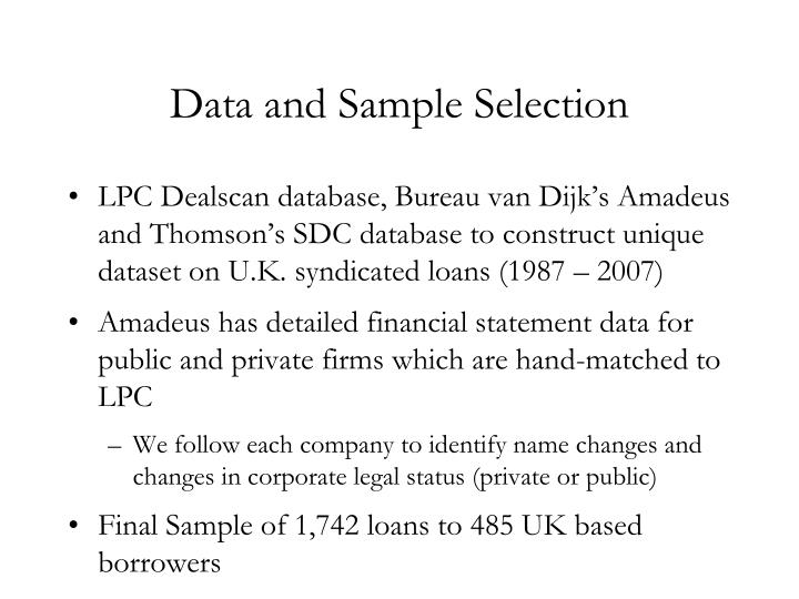 Data and Sample Selection