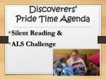 discoverers pride time agenda