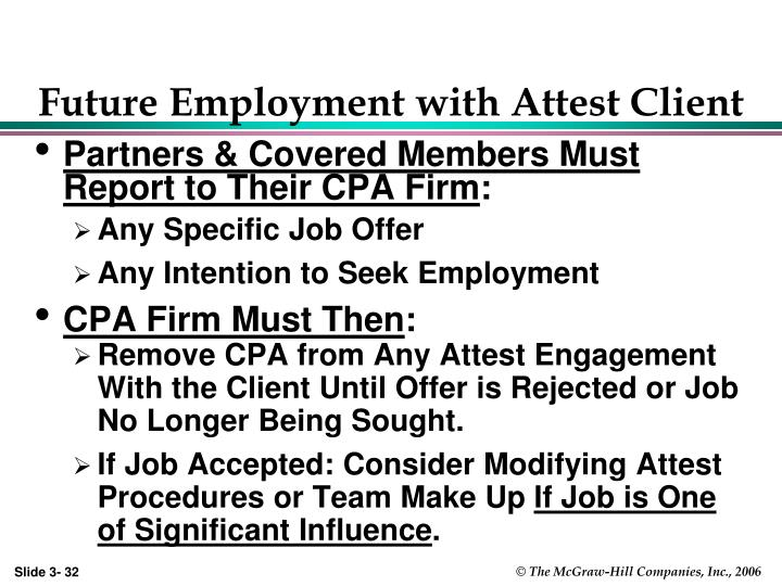 Future Employment with Attest Client