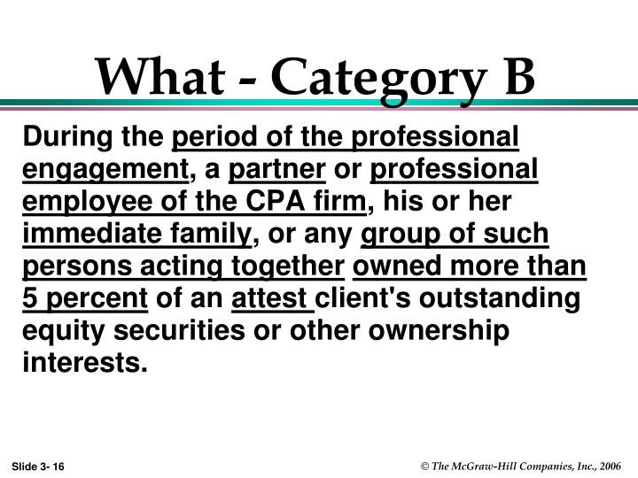 What - Category B