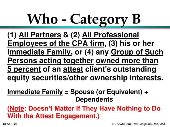Who - Category B