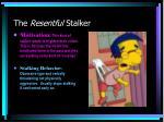 the resentful stalker