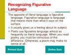 recognizing figurative language