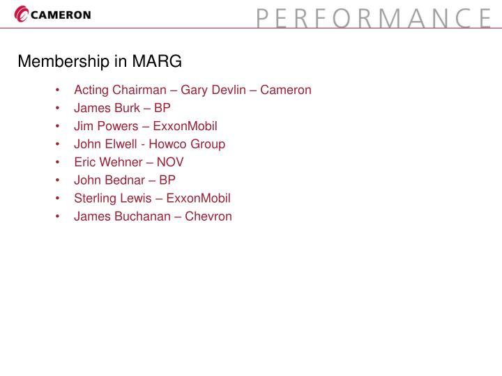 Membership in marg