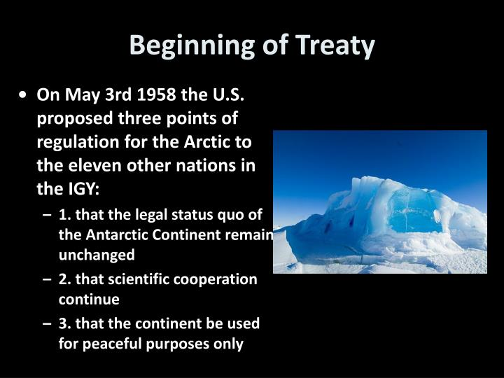 Beginning of Treaty