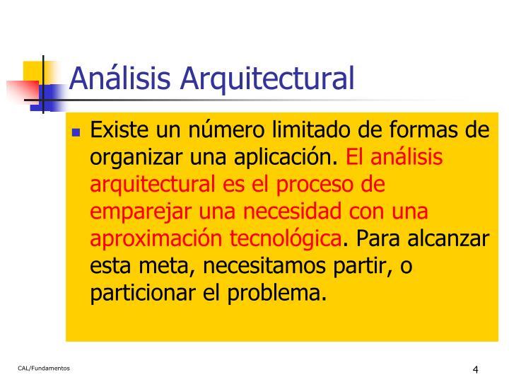 Análisis Arquitectural