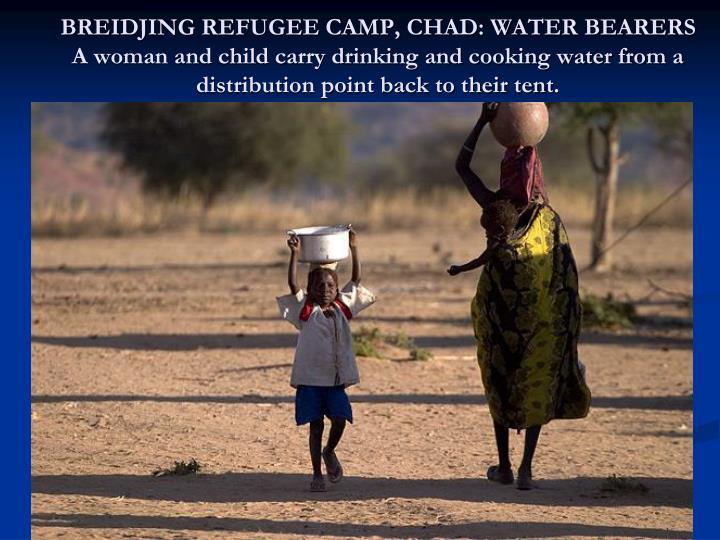 BREIDJING REFUGEE CAMP, CHAD: WATER BEARERS