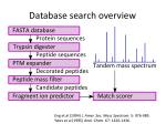 database search overview