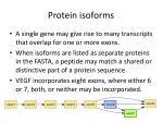 protein isoforms