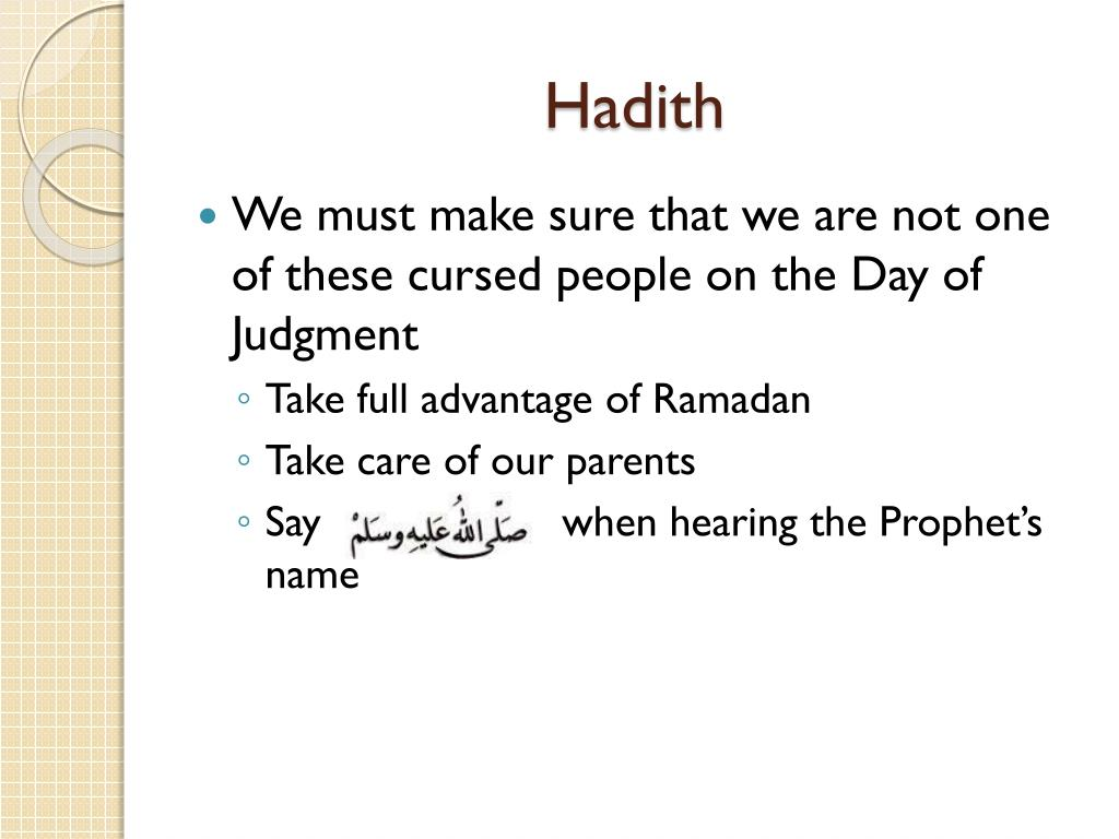 PPT - Hadith Session 1 PowerPoint Presentation - ID:5559617