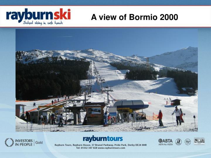 A view of Bormio 2000