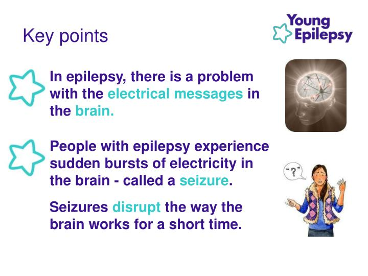 In epilepsy, there is a problem with the