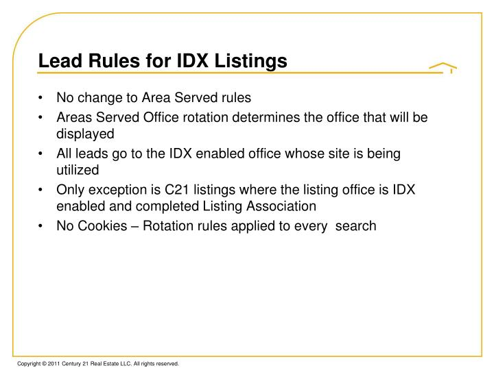 Lead Rules for IDX Listings