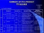 summary of fr 4 product fr 4