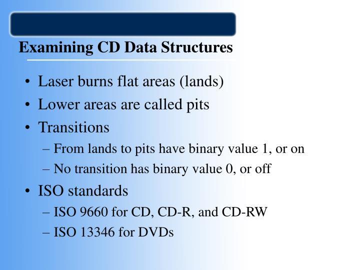 Examining CD Data Structures