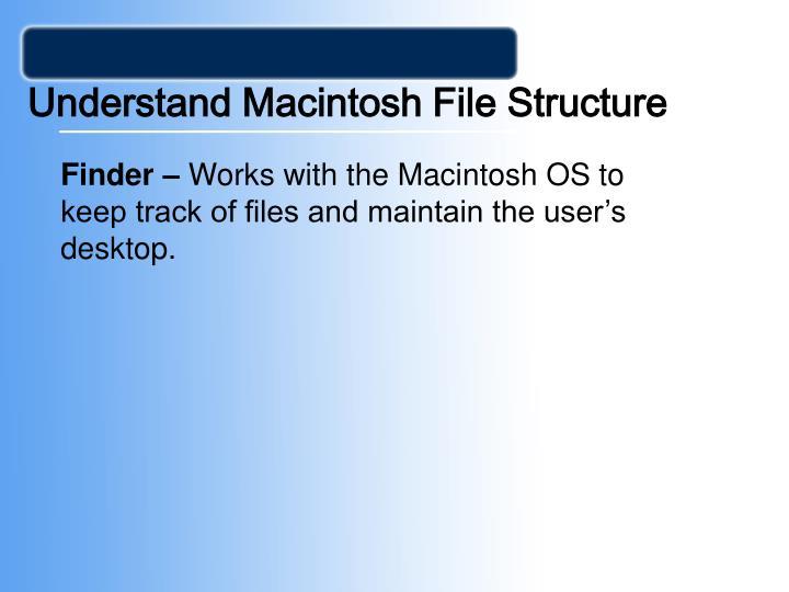 Understand Macintosh File Structure