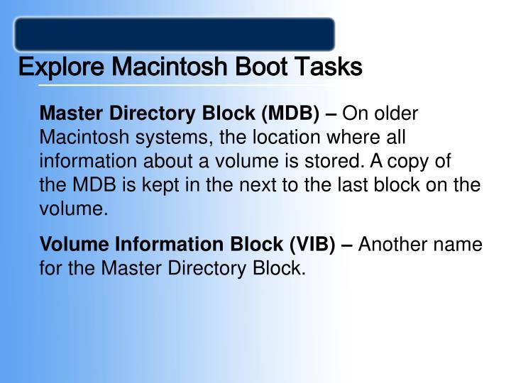 Explore Macintosh Boot Tasks