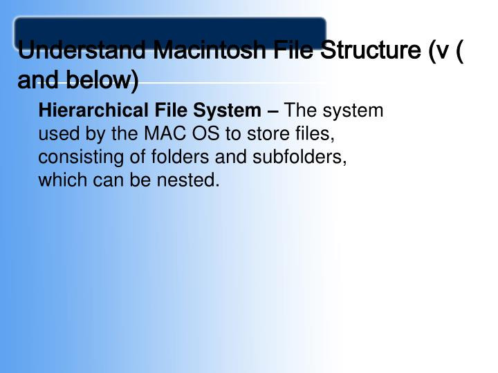 Understand Macintosh File Structure (v ( and below)