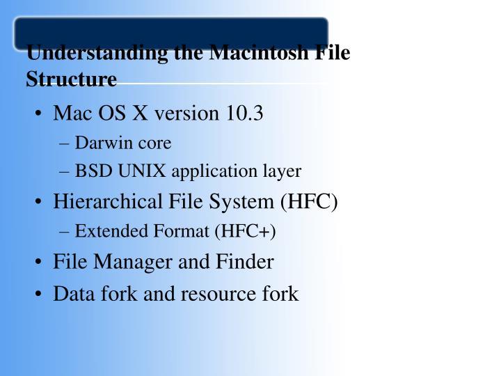 Understanding the Macintosh File Structure