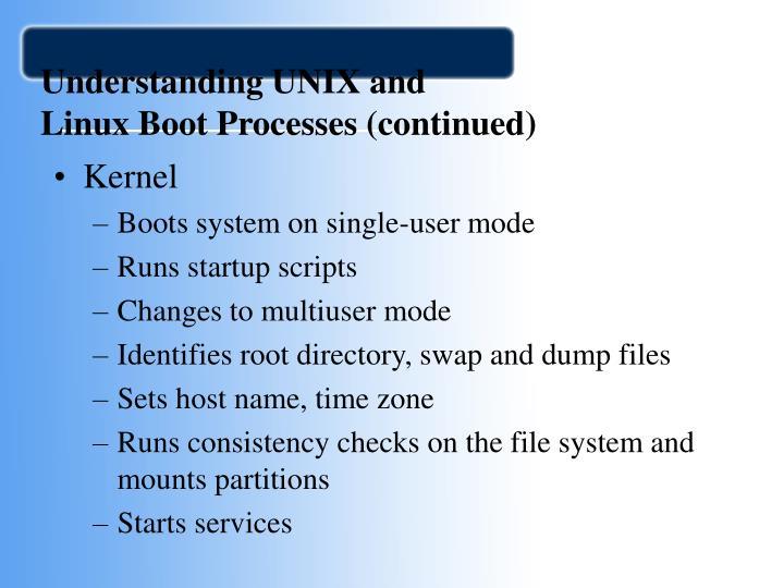 Understanding UNIX and