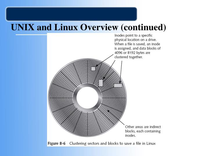 UNIX and Linux Overview (continued)